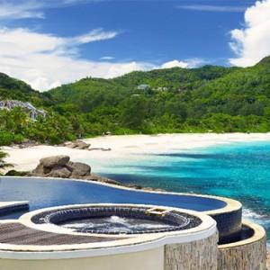 Banyan Tree Seychelles - Luxury Seychelles Honeymoon Packages - Royal Banyan Ocean View Pool Villa (1 bedroom) pool with view