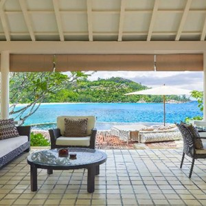 Banyan Tree Seychelles - Luxury Seychelles Honeymoon Packages - Royal Banyan Ocean View Pool Villa (1 bedroom) terrace