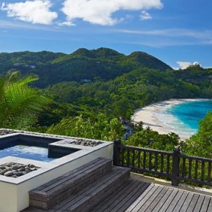 Banyan Tree Seychelles - Luxury Seychelles Honeymoon Packages - Sanctuary Ocean View Pool Villa exterior