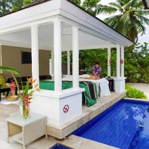 Banyan Tree Seychelles - Luxury Seychelles Honeymoon Packages - Spa Sanctuary Pool Villa spa massage