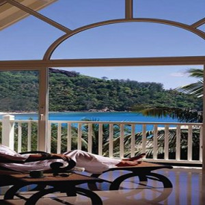 Banyan Tree Seychelles - Luxury Seychelles Honeymoon Packages - Women relaxing