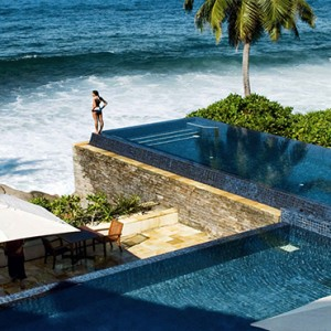 Banyan Tree Seychelles - Luxury Seychelles Honeymoon Packages - aerial view of Infinity pool