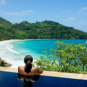 Banyan Tree Seychelles - Luxury Seychelles Honeymoon Packages - women in pool