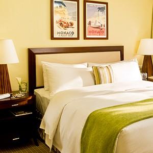 Fairmont Monte Carlo - bedroom green