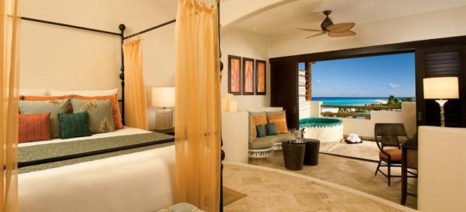 Secrets Maroma Beach - Preferred Club Junior Suite Ocean View Bedroom