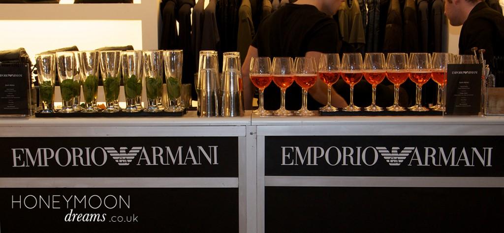 Armani event held by honeymoon dreams