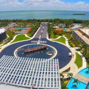 Mexico Honeymoon Packages Hard Rock Hotel Cancun Aerial View1
