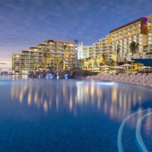 Mexico Honeymoon Packages Hard Rock Hotel Cancun Pool At Night