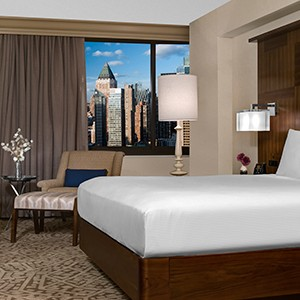 The Hilton Times Square Bedroom 1