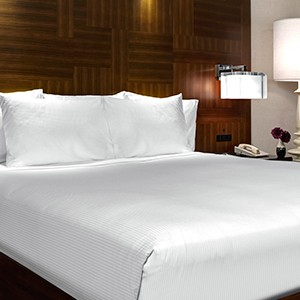 The Hilton Times Square Bedroom