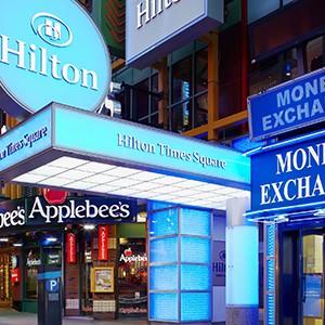The Hilton Times Square Exterior