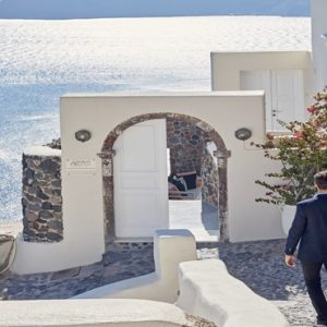 Greece Honeymoon Packages Canaves Oia Suites Hotel Entrance