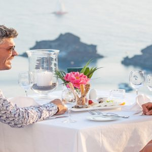 Greece Honeymoon Packages Canaves Oia Suites In Room Dining
