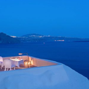 Greece Honeymoon Packages Canaves Oia Suites Panorama Balcony Experience
