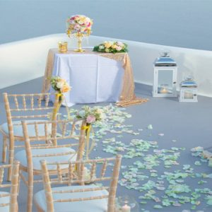 Greece Honeymoon Packages Canaves Oia Suites Wedding Setup