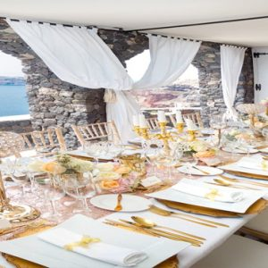Greece Honeymoon Packages Canaves Oia Suites Wedding Setup1
