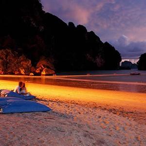 centara grand beach resort Krabi - Thailand honeymoon packages - private dining beach