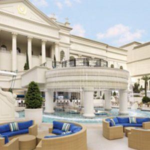 Caesars Palace Las Vegas honeymoon packages Courtyard