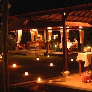 Pavilions, Bali - bali honeymoon - dining