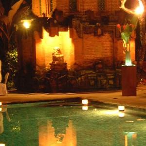 Pavilions, Bali - bali honeymoon - pool dining