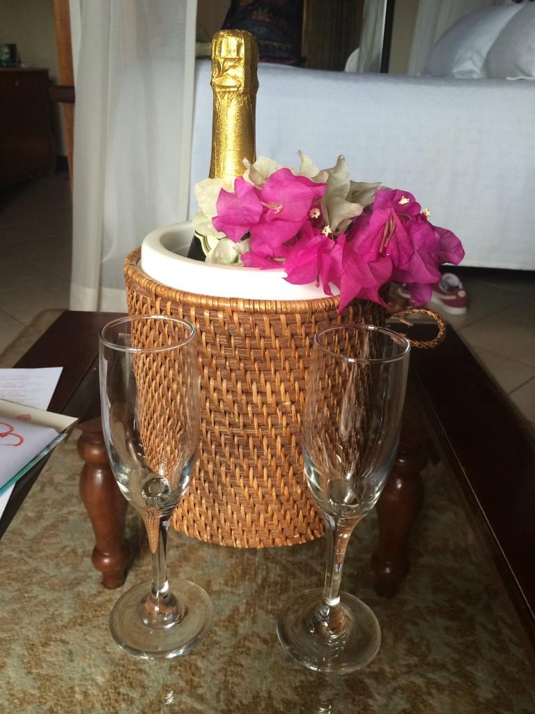 Sandals-Grande-St-Lucia-honeymoon-champagne
