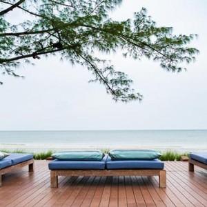 Thailand Honeymoon Packages Let's Sea Hua Hin Alfresco Resort Beach Sun Loungers