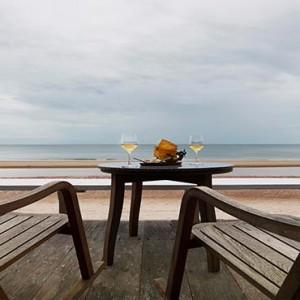 Thailand Honeymoon Packages Let's Sea Hua Hin Alfresco Resort Beachfront Wine Snacks