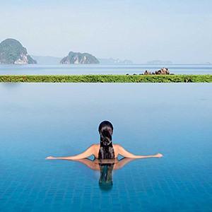 phulay bay, Krabi - Thailand Honeymoon Packages - pool woman