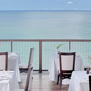 Calabash Cove - St Lucia Honeymoon Packages - dining