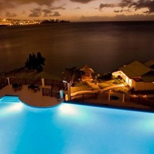 Calabash Cove - St Lucia Honeymoon Packages - pool night