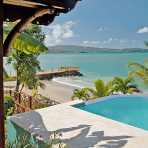 Calabash Cove - St Lucia Honeymoon Packages - pool villa