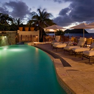 Cap Maison - St Lucia Honeymoon Packages - pool night