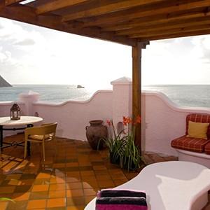 Cap Maison - St Lucia Honeymoon Packages - terrace