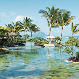 La Pirogue Resort and Spa - Luxury Mauritius Honeymoon Packages - Pool view