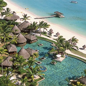La Pirogue Resort and Spa - Luxury Mauritius Honeymoon Packages - aerial view