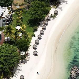 Le Cardinal - Mauritius Honeymoon Packages - beach aerial