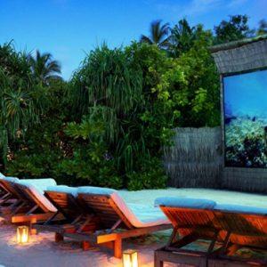 Maldives Honeymoon Packages Six Senses Laamu Outdoor Cinema