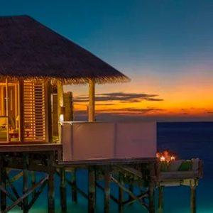Maldives Honeymoon Packages Six Senses Laamu Sunset Laamu Water Villa With Pool