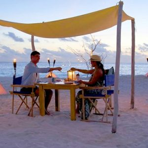 Maldives Honeymoon Packages Six Senses Laamu Barbecue Sandbank Dining