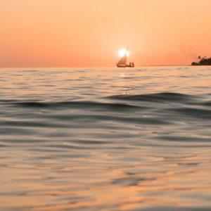 Maldives Honeymoon Packages Six Senses Laamu Boat Sunset