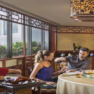 Marina Mandarin - Luxury Singapore Honeymoon Packages - Couple dining