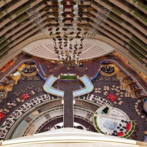 Marina Mandarin - Luxury Singapore Honeymoon Packages - aerial view of interior
