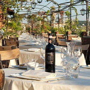 Grand Hotel Baglioni Florence - Italy Honeymoon Packages - terrace