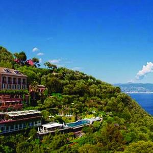 Hotel Splendido Portofino - Italy Honeymoon Packages - aerial