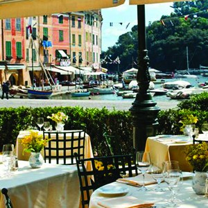 Hotel Splendido Portofino - Italy Honeymoon Packages - dining