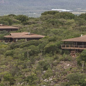 Kariega Game Reserve - Luxury South Africa Honeymoon Packages - Main lodge aerial view