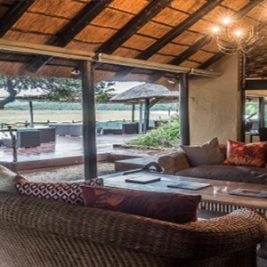 Kariega Game Reserve - Luxury South Africa Honeymoon Packages - River lodge living area