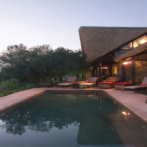Kariega Game Reserve - Luxury South Africa Honeymoon Packages - River lodge pool