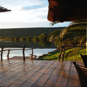 Kariega Game Reserve - Luxury South Africa Honeymoon Packages - River lodge view