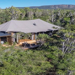 Kariega Game Reserve - Luxury South Africa Honeymoon Packages - Settlers drift aerial view